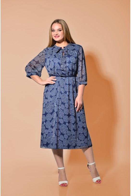 Платье женское В-272/1 сине-белое