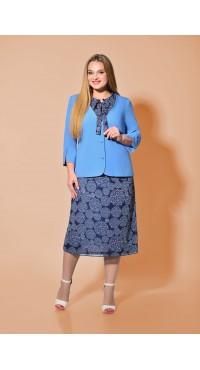 Комплект женский В-272 сине-голубой