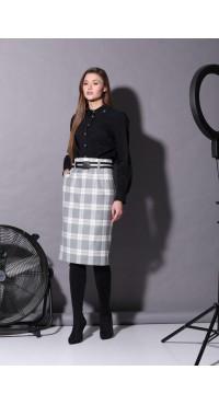 Комплект женский В-189 черно-серый