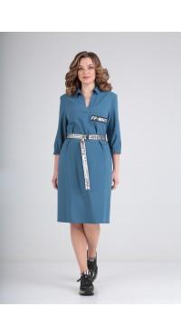 Платье женское В-325 серо-голубой