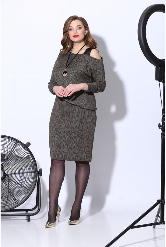Платье женское В-241 охра